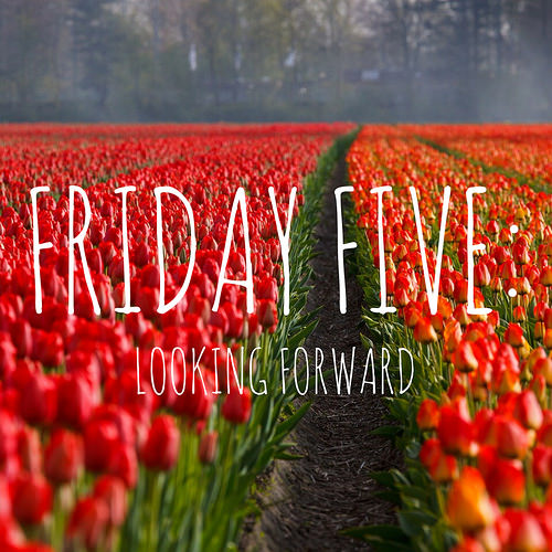 Friday Five: Things I'm looking forward to happening.