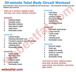 circuit training 30 minute total body workout we beat fatCircuit Training 30 Minute Total Body Workout We Beat Fat #4