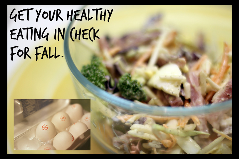 Get that healthy eating in check for fall