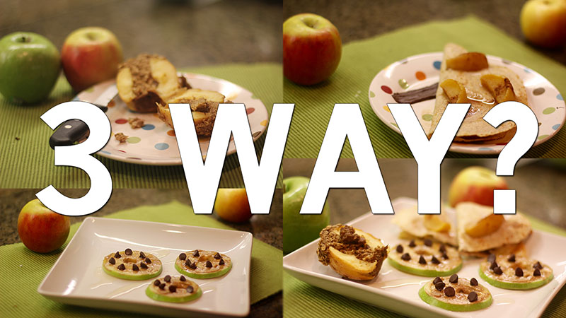 Three way: enjoyable apple recipes