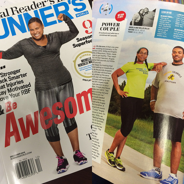 We are in Runner's World talking weight loss!