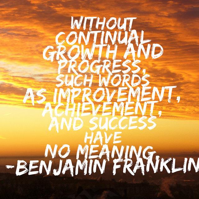 Progress will come