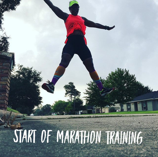 Start of marathon training