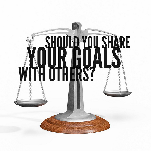 Should you share your goals?